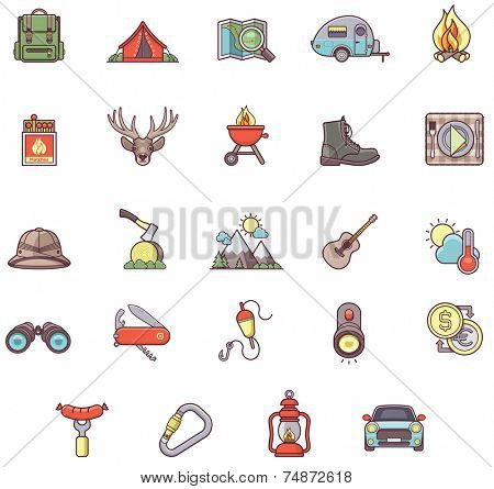 Set of the Camping related icons