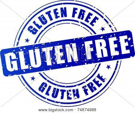 Blue Gluten Free Stamp