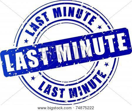 Blue Last Minute Stamp