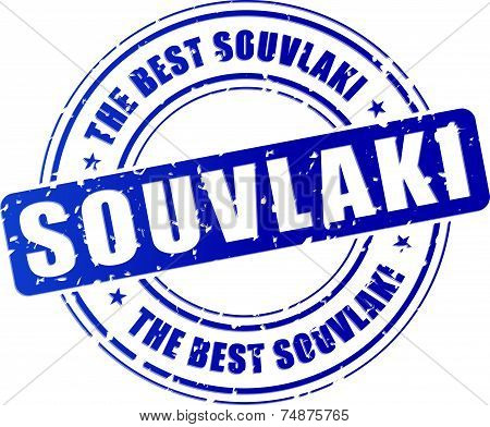 Blue Souvlaki Stamp