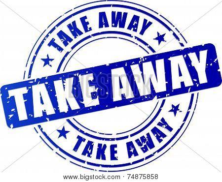 Blue Take Away Stamp