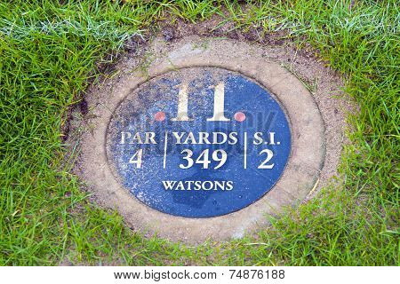 Information Marker On The 11Th Hole