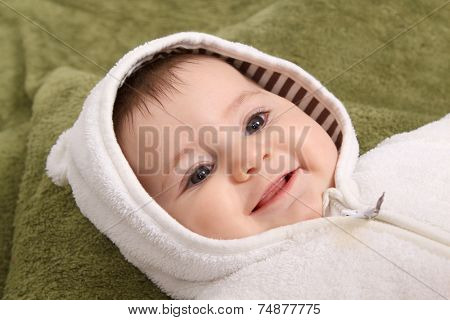 beautiful baby girl with hat