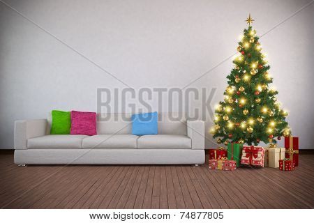 Christmas Tree Decorated With Presents
