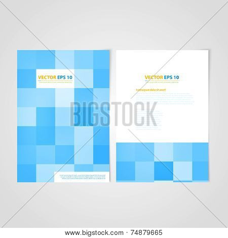 Flyer template back and front design. Medical Icons