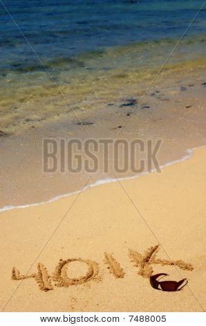 401K written in the sand