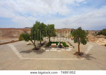 Graves first Israeli Prime Minister Ben-Gurion and his wife Pauline. Kibbutz Sde Boker in the Negev desert