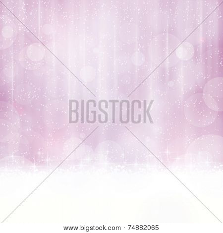 Abstract background in shades of purple, magenta and violet with blurry light dots. Stars and light effects give it a dreamy, soft feeling and a glow perfect for the festive Christmas season to come.