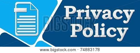 Privacy Policy Blue Two Section