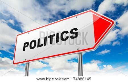 Politics on Red Road Sign.