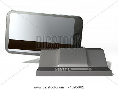 Cell Phone Credit Card In Payment Slot