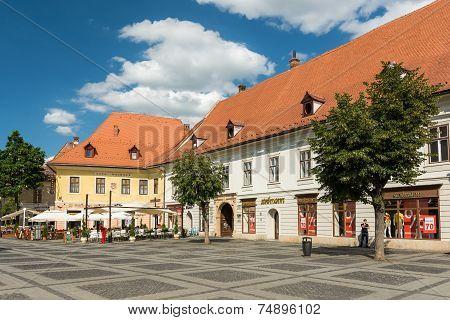 Medieval Houses In Sibiu