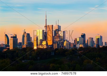 Toronto Downtown At Sunrise