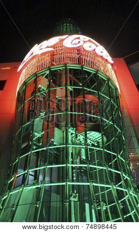 Las Vegas Coca Cola Store By Night