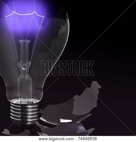 red shine of bulb, indestructible