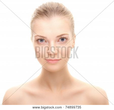 Young beauty woman looking at camera