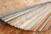 stock photo of linoleum  - The samples of collection natural linoleum - JPG