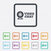 pic of video chat  - Video chat sign icon - JPG