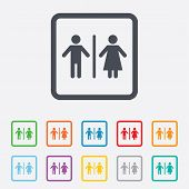 pic of female toilet  - WC sign icon - JPG
