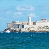 image of el morro castle  - The famous castle of El Morro in Havana  on a beautiful clear day - JPG
