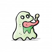 pic of grossed out  - cartoon gross halloween ghost - JPG