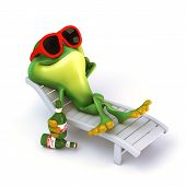 pic of glass frog  - 3d render cartoon of frog illustration collection - JPG