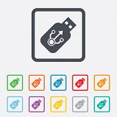 image of memory stick  - Usb sign icon - JPG