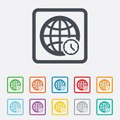 foto of universal sign  - World time sign icon - JPG