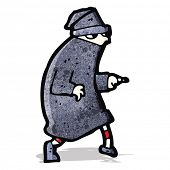 foto of sneak  - cartoon sneaking thief - JPG