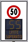 picture of infraction law  - Speedometer deterrent for high speed used on italians road - JPG