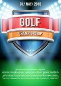 foto of announcement  - Background for posters golf field game announcement - JPG