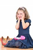 picture of little girls photo-models  - Happy cute little girl prepared for a make - JPG