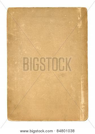 Old Blank Paper. Isolated On White Background.clipping Path.