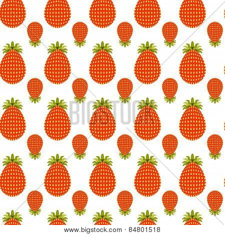 Pattern Of Strawberries Vector