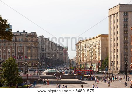 Manezh Square And Tverskaya Street