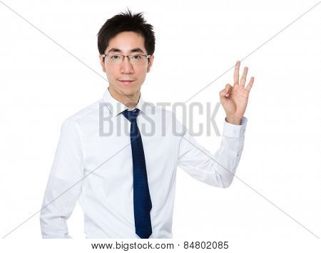 Business man with ok sign