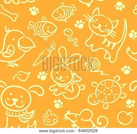 Seamless pets pattern