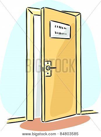 Door of some cabinet