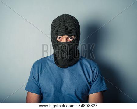Scary Man Wearing A Balaclava