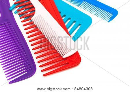 Set of new comb on a white background