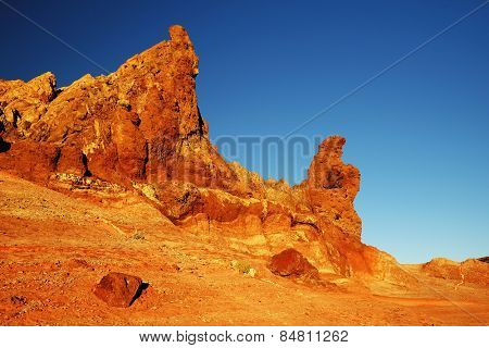 Roques de Garcia in sunset light, Teide National Park, Tenerife, Canary Islands, Spain