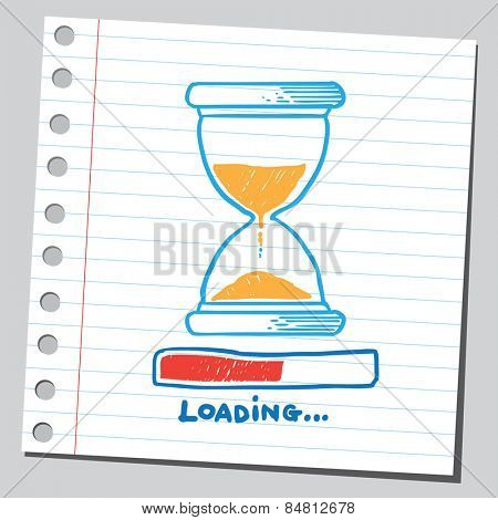 Hourglass loading (time concept)