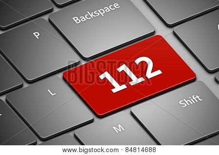 Computer Keyboard With Emergency Number 112