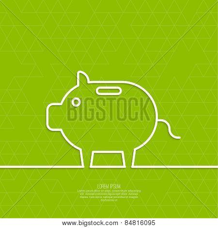 Icon Pig piggy bank