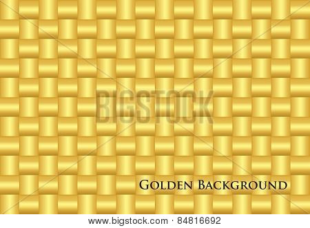 Modern Golden Background With Seamless Pattern