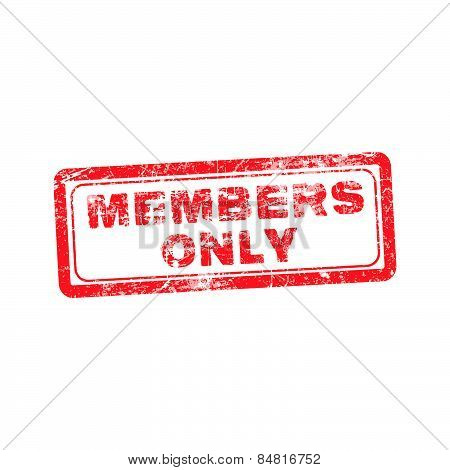 Members Only Red Grunge Rubber Stamp Vector Illustration