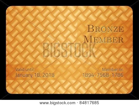 Bronze Member Card With Diagonal Crossing Bar Template