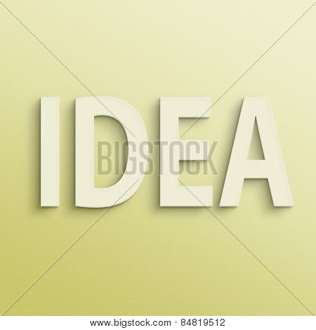 text on the wall or paper, idea