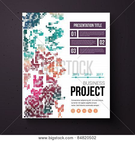 Abstract design template for a business project