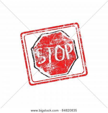 Stop rubber stamp